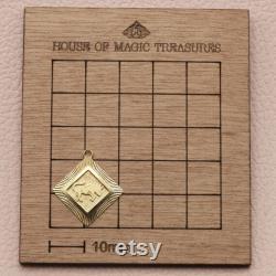 Vintage zodiac charm pendant Taurus charm in 18 ct yellow gold star sign pendant perfect gift gold Taurus pendant