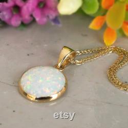 White Opal Necklace, 14K Gold Necklace, Opal Charm, Dainty Necklace, Gemstone Necklace, Bridal Jewelry, Wedding Jewelry